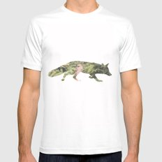 The Curious Fox MEDIUM White Mens Fitted Tee