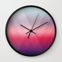 Fading Geometry Wall Clock
