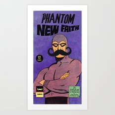 phantom moustache Art Print