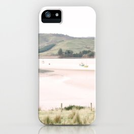 Boats on the water (color) iPhone Case