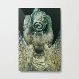 Cemetery Angel -Vert Metal Print