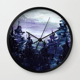 Cold Forest Wall Clock