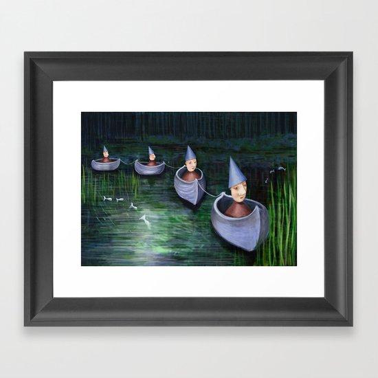 Drifting Down Stream Framed Art Print