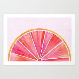 Sunny Grapefruit Watercolor Art Print