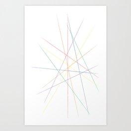 Rainbow Pick Up Sticks Art Print