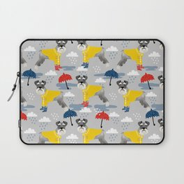 Schnauzer spring raincoat cute pattern for dog lover with schnauzers Laptop Sleeve