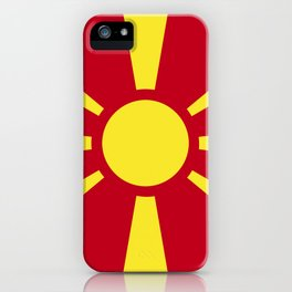 Macedonia flag emblem iPhone Case