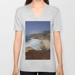 Crashing Waves - California Coast Unisex V-Neck