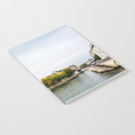 Seine river at Saint Louis island confluence in Paris Notebook