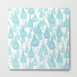 Raining Water Bears Metal Print