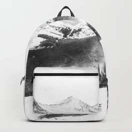 Fresh Snow Dust // Black and White Powder Day on the Mountain Backpack