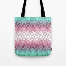 Pretty Mermaid Scales 20 Tote Bag