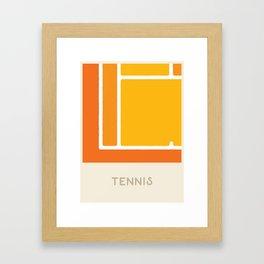 Tennis (Sports Surfaces Series, No. 22) Framed Art Print