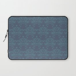Vintage teal blue elegant floral damask Laptop Sleeve