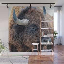 In The Presence Of Bison Wall Mural