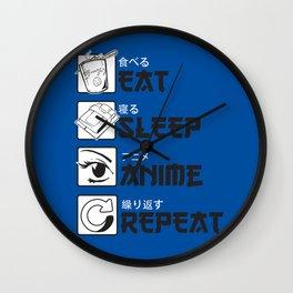 Eat Sleep Anime Wall Clock