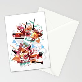 Deer and wolf Stationery Cards