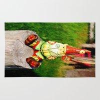 gnome Area & Throw Rugs featuring Gnome by Raffaella315