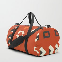 American native shapes in red Duffle Bag