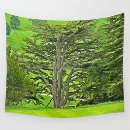 Old English Tree 1 Wall Tapestry