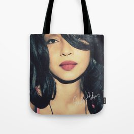 British singer Digitally grained close up photo. For music lovers. Tote Bag