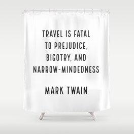 Mark Twain on Travel Shower Curtain