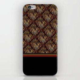 Tiger Stripe Mosaic Tile Modern Abstract iPhone Skin