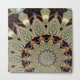 Fractal Scorpion Flower Mandala 20 Metal Print