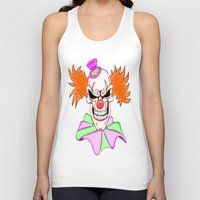 pennywise Tank Tops featuring Demented Clown Skull by J&C Creations