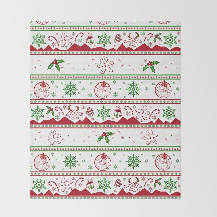 Santa babe red & green Throw Blanket