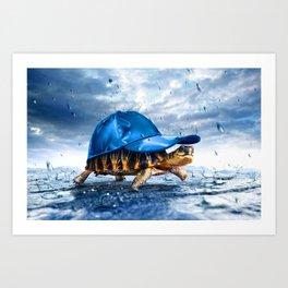 Turtle Hat Art Print