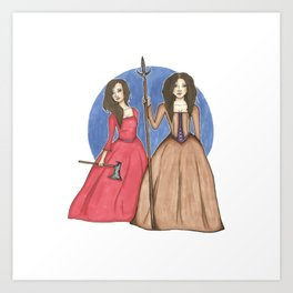 Sisters at War Art Print