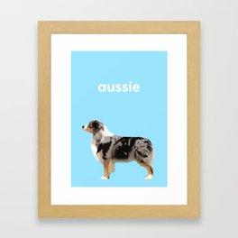 #Australian Shepherd #2 Framed Art Print