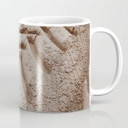 Tire tracks in the Sand Coffee Mug