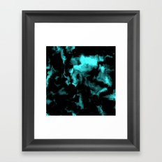 Teal and Black Framed Art Print