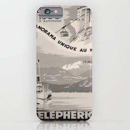 vintage Plakat Telepherique Mt Veyrier voyage poster iPhone Case