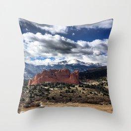 Pikes Peak - Colorado Springs Throw Pillow
