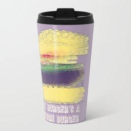 Veggie Burger (purple) Travel Mug