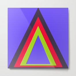 Homage to the Triangle Metal Print