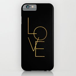 LOVE / black and gold iPhone Case