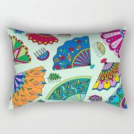 Colorful Fans Rectangular Pillow