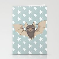 bat Stationery Cards featuring Bat by Mr and Mrs Quirynen