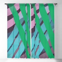 Colorful graphics stripes Blackout Curtain