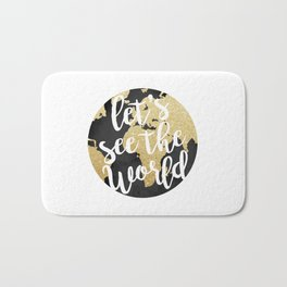 Let's See The World Bath Mat