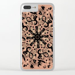 MANDALA SASHA // SASCHA NAME Clear iPhone Case