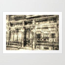 The Cockpit Pub London Vintage Art Print