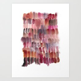color diary : pinks Art Print