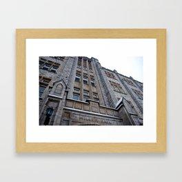 Miller Hall, From Below Framed Art Print