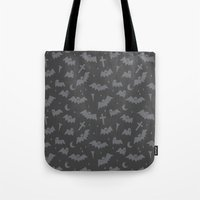 bats Tote Bags featuring Bats by Sil Elorduy