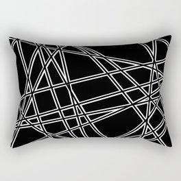 To The Edge Black #2 Rectangular Pillow